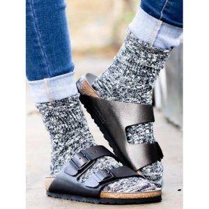 Birkenstock Arizona Leather Sandal Washed Metallic